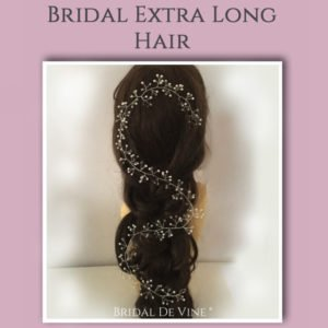 Bridal Hair Vines Extra Long