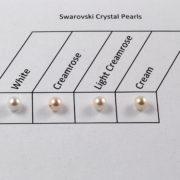 4 Swaovski Pearl